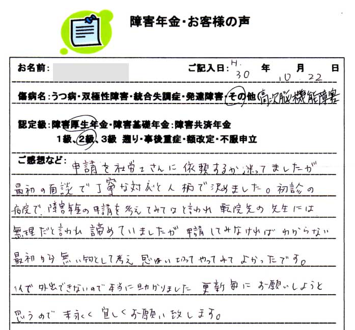 M.W様のご依頼から申請までの経過